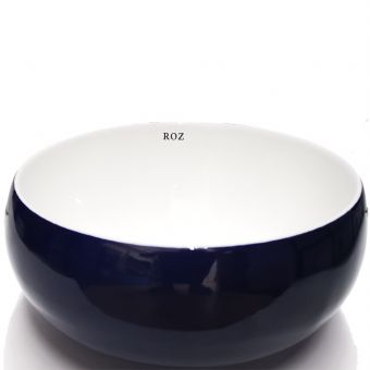 ROZ  A366-CDBW 31X31 ART  BASIN WHITE-BLUE