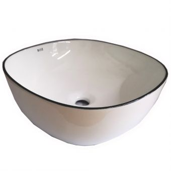 ROZ A420-CBLG BLACK LINE ART BASIN