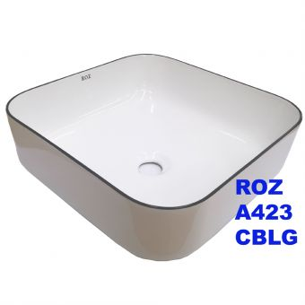 ROZ A423-CBLG BLACK LINE ART BASIN