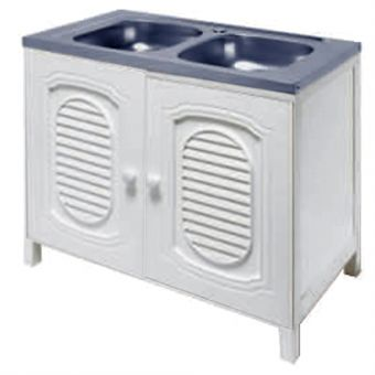ABS-S080BB Standalone Stainless Steel Bowl Sink with ABS Cabinet