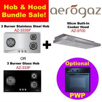AZ 333 Hob & AZ-9700 Hood with optional PWP Oven Bundle