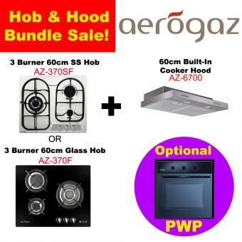 AZ 370 Hob & AZ-6700 Hood with optional PWP Oven Bundle