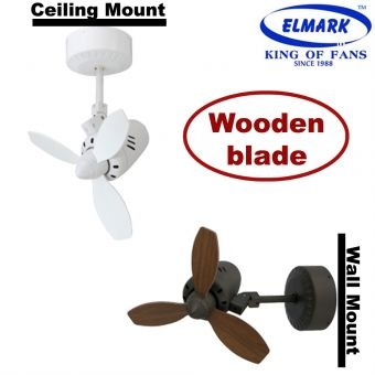 Elmark Aircraft Ceiling/Wall Fan 18inch  (WOOD BLADE)