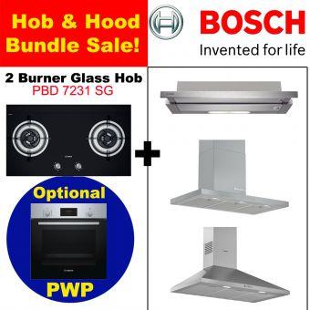 PBD7231 & Hood with optional PWP Oven bundle