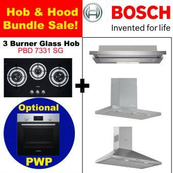 PBD7331 & Hood with optional PWP Oven bundle