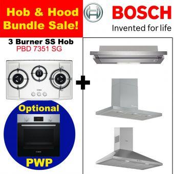 PBD7351SG & Hood with optional PWP Oven bundle