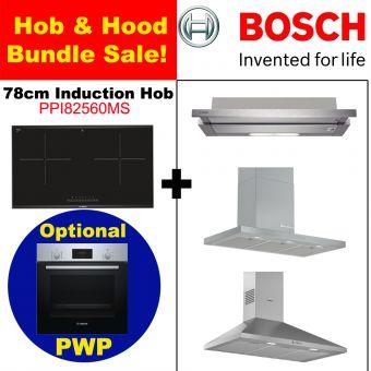 PPI82560MS & Hood with optional PWP Oven bundle
