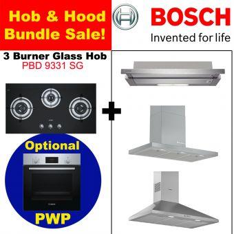 PBD9331SG & Hood with optional PWP Oven bundle