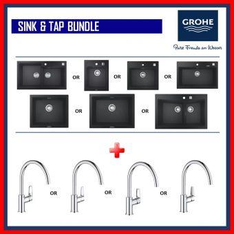 Grohe Composite Sink + Bau Series Kitchen Sink Mixer