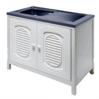 ABS-DM086B Standalone Stainless Steel Sink (1B1D) with ABS Cabinet