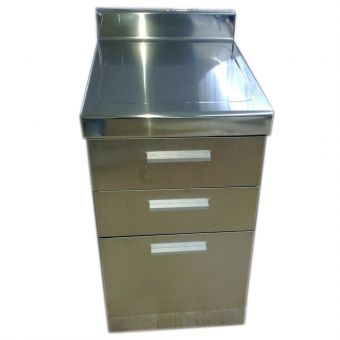 DMS LED-1045 Stainless Steel Flat Top with 3 drawer