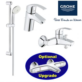 Eurosmart Series Bath Mixer & Basin Mixer & Shower Set bundle