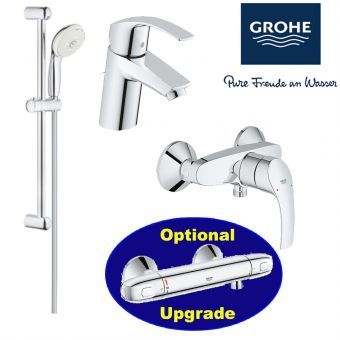 Eurosmart Series Shower Mixer & Basin Mixer & Shower Set bundle