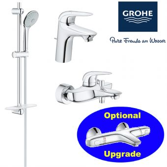 Eurostyle Series Bath Mixer & Basin Mixer & Shower Set bundle