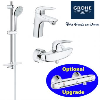 Eurostyle Series Shower Mixer & Basin Mixer & Shower Set bundle