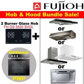 FH-GS5520 SVGL & Hood with optional PWP Oven bundle