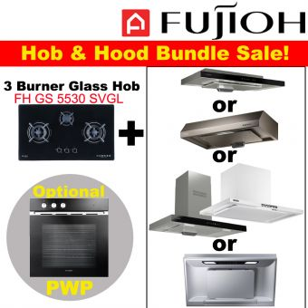 FH-GS5530 SVGL & Hood with optional PWP Oven bundle