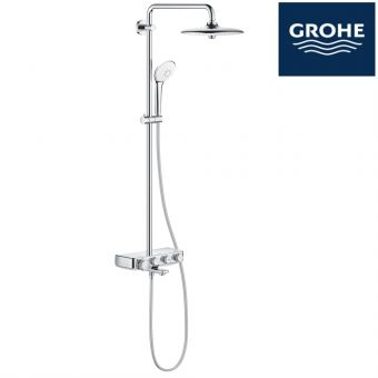 [PRE-ORDER]  GROHE EUPHORIA SMARTCONTROL 260 SHOWER SYSTEM THERMOSTATIC BATH MIXER FOR WALL MOUNTING