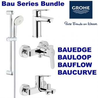 Bau Series Bath/Shower Mixer & Basin Mixer & Shower Set bundle