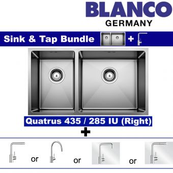 QUATRUS R15 435/285-IU (RIGHT BOWL) & Faucets bundle