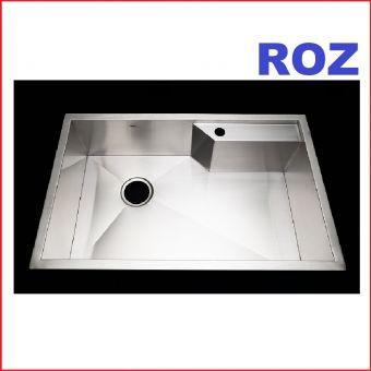 ROZ R01009 R0 JUMBO 1-BOWL RIGHT DECK 80X50CM S/S