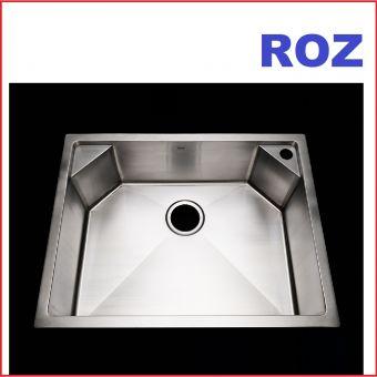 ROZ R151007A DELTA 1-BOWL CORNER DECK 65X50CM S/S