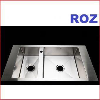 ROZ RA3920KBR 100CM R10 2-BOWL RIGHT BIG SINK