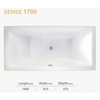 Sovereign Spas Sense Inset Bathtub - 1700mm
