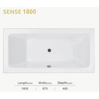 Sovereign Spas Sense Inset Bathtub - 1800mm