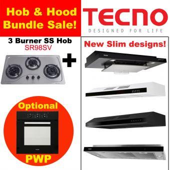 SR98SV Hob & New Slim Hood with optional PWP Oven Bundle
