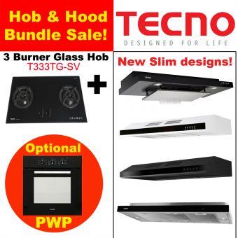 T222TGSV Hob & New Slim Hood with optional PWP Oven Bundle