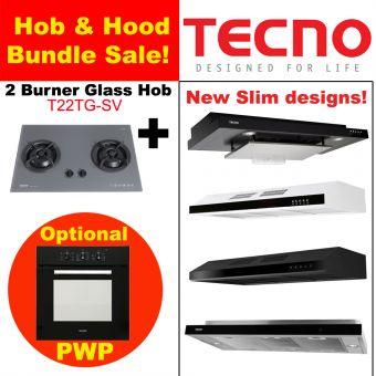 T22TGSV Hob & New Slim Hood with optional PWP Oven Bundle