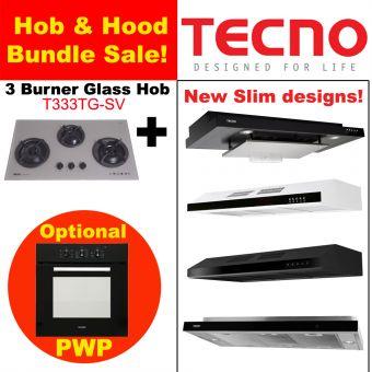 T333TGSV Hob & New Slim Hood with optional PWP Oven Bundle