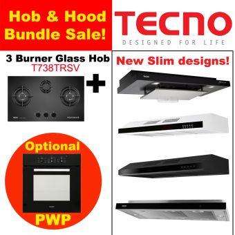 T738TRSV Hob & New Slim Hood with optional PWP Oven Bundle