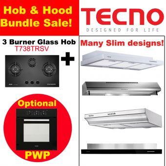 T738TRSV Hob & Slim Hood with optional PWP Oven Bundle
