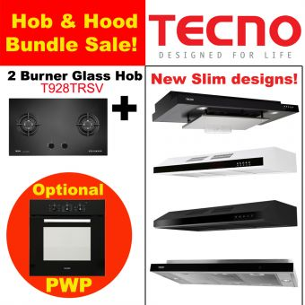T928TRSV Hob & New Slim Hood with optional PWP Oven Bundle