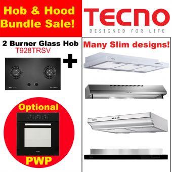 T928TRSV Hob & Slim Hood with optional PWP Oven Bundle