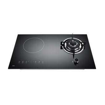 Uno UK7338 Gas-Induction Hybrid Glass Hob